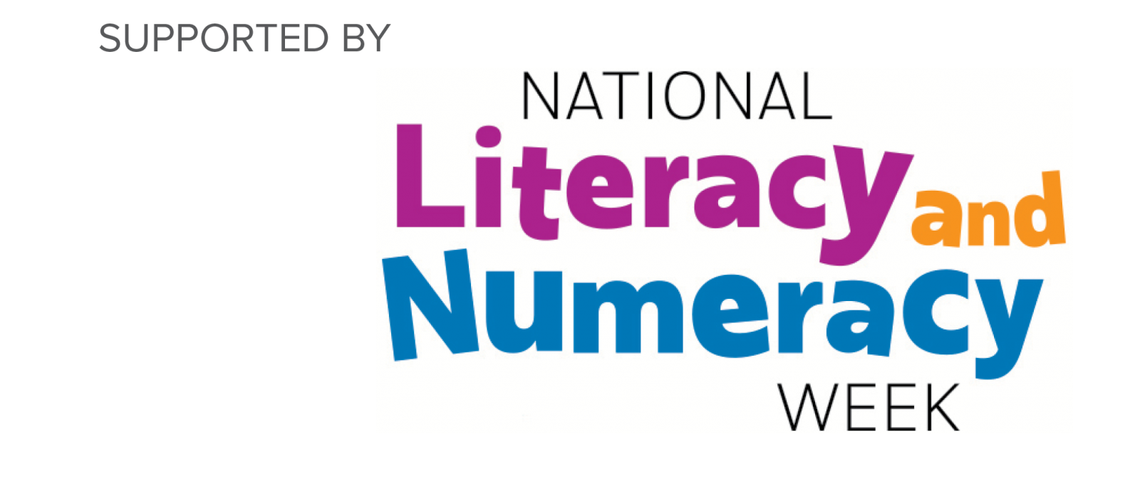 Supported by National Literacy and Numeracy Week