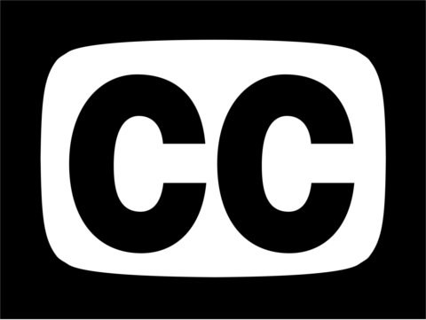 Closed captions symbol