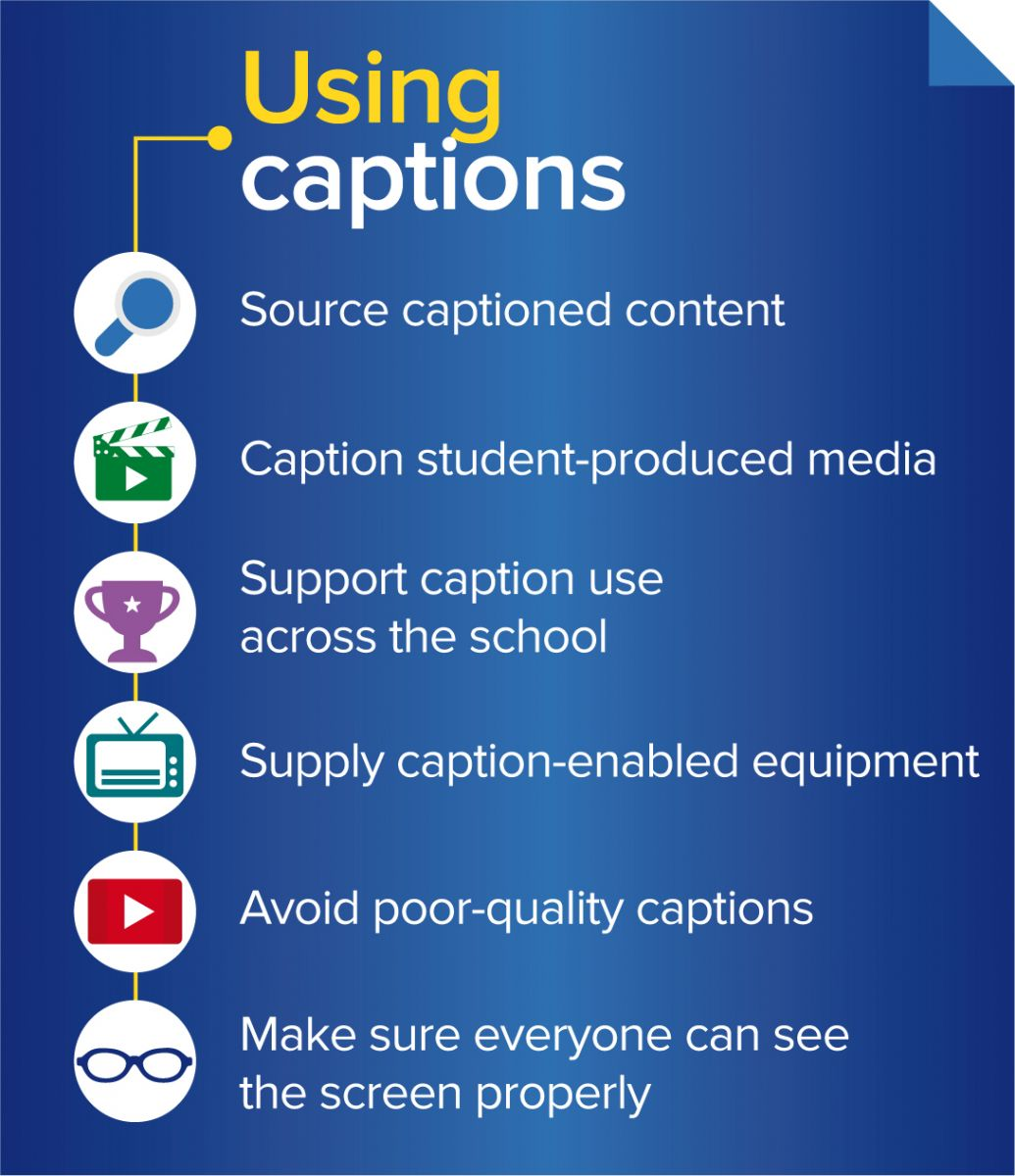 Benefits of Captions infographic